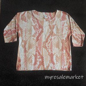 Women's Printed Pink Scales Top